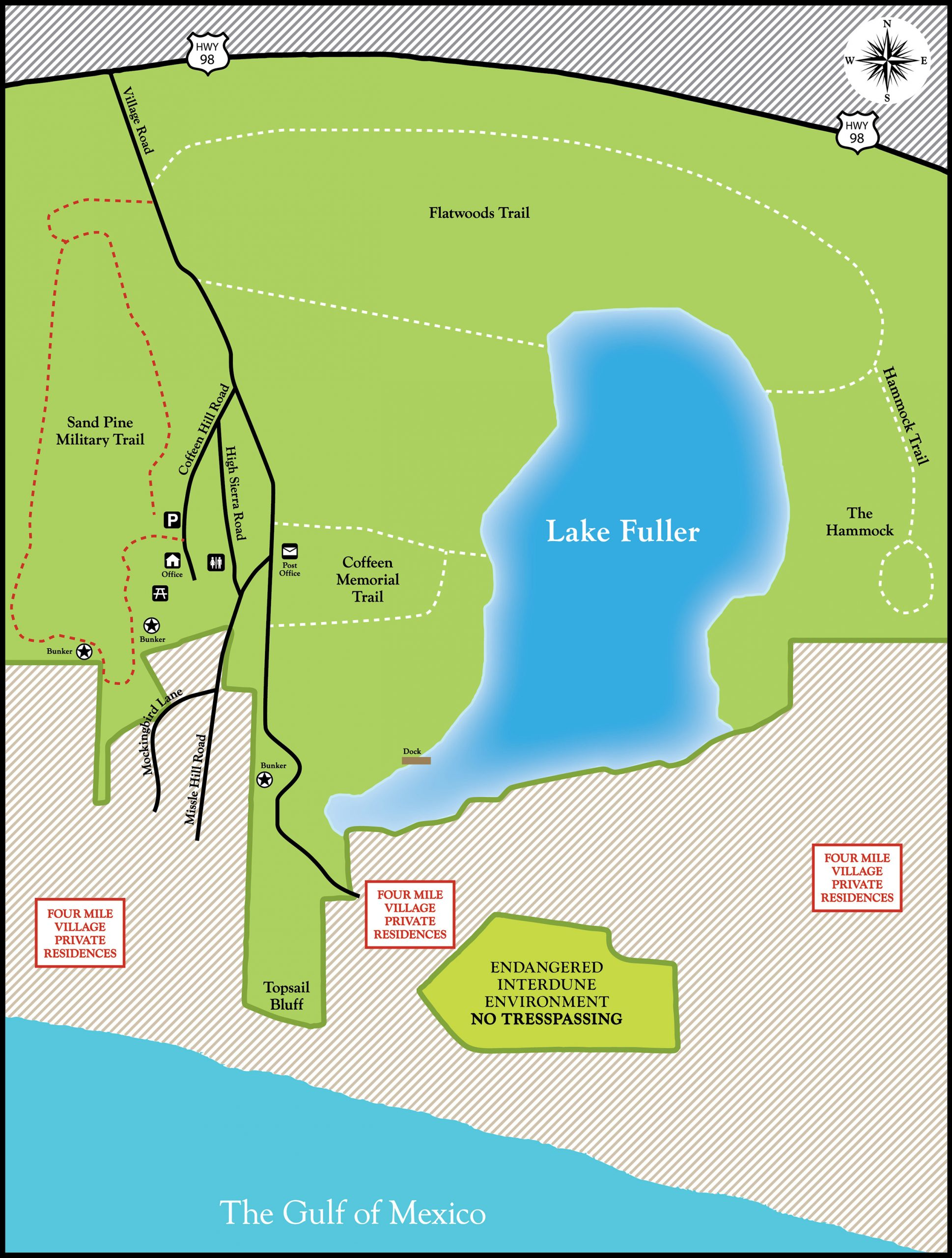 Coffeen Nature Preserve Map